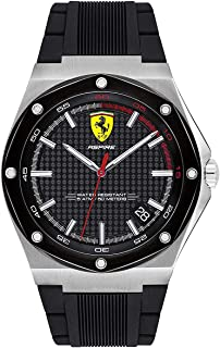 Scuderia Ferrari MEN'S BLACK DIAL BLACK SILICONE WATCH - 830529