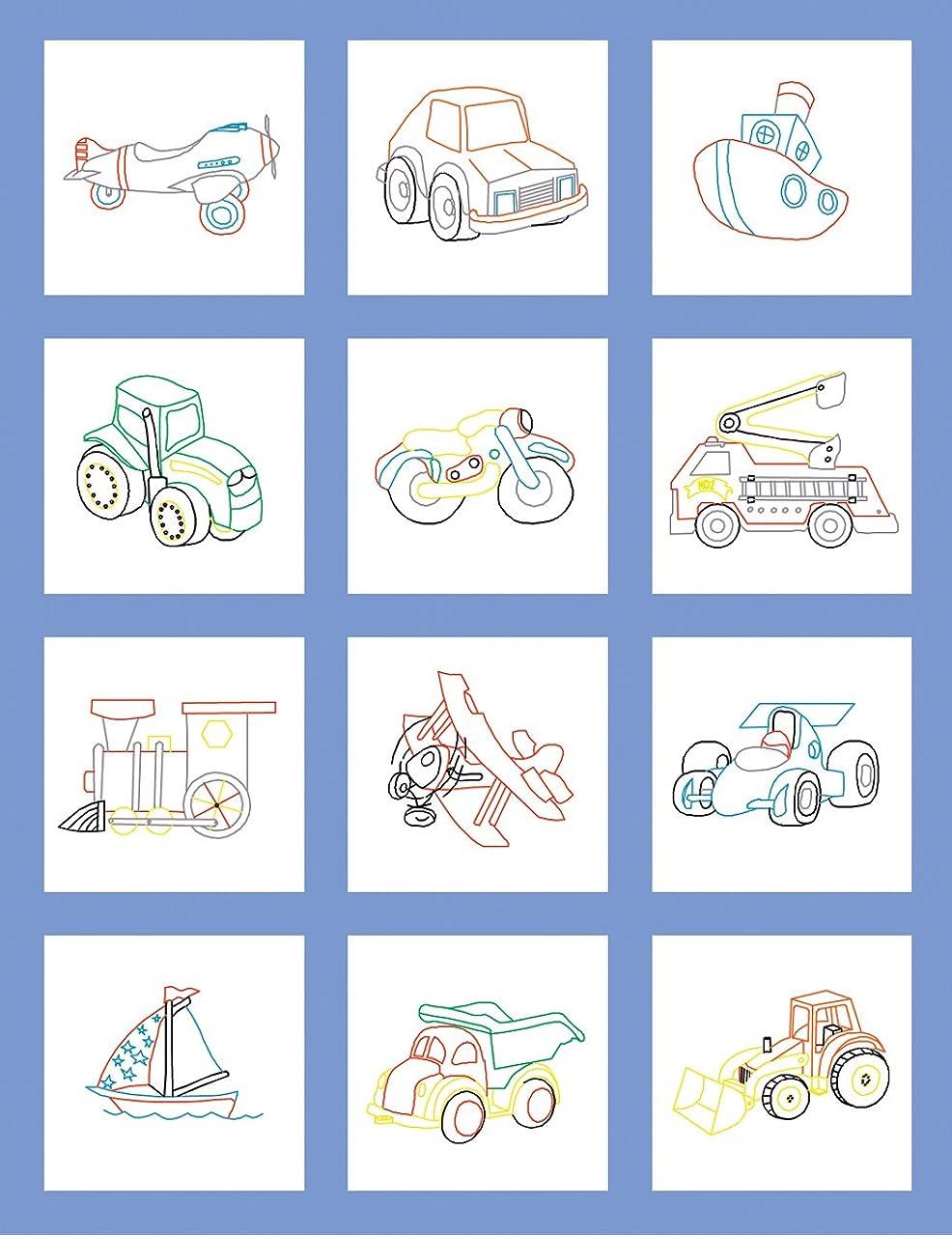 Fairway 92317 Baby Quilt Block, Toy Design, Twelve Blocks, White