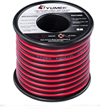 TYUMEN 40 Feet 18 AWG Gauge 2 Conductor Stranded Red Black Car Home Stereo Speaker Audio Cable Electrical Hookup Wire - 99.95% Oxygen Free Copper Wires