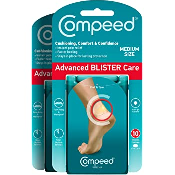 Compeed Advanced Blister Care Cushions 10 Count Medium Pads (2 Packs) – Packaging May Vary