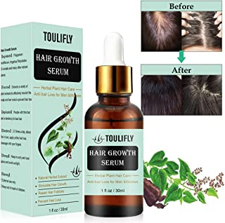 TOULIFLY Hair Growth Serum Hair Growth Treatment Oil Hair Regrowth Serum Anti-hair Loss Hair Treatment for Thinning Balding Hair Promotes Hair Growth for Men Women