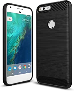 Taorey Case for Google Pixel XL Case, Carbon Fiber Case with Resilien Shock Absorption and Luxury Slim for Google Pixel XL 2016 - Black