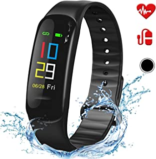CHIYANTECH Activity Fitness Tracker, Wearable Sensors Health Tracker Watch,IPX67 Waterproof,Sleep/Heart Rate/Blood Pressure Monitor,Calorie/Step Counter Smart Wristbands Bracelet for Women Man Kids