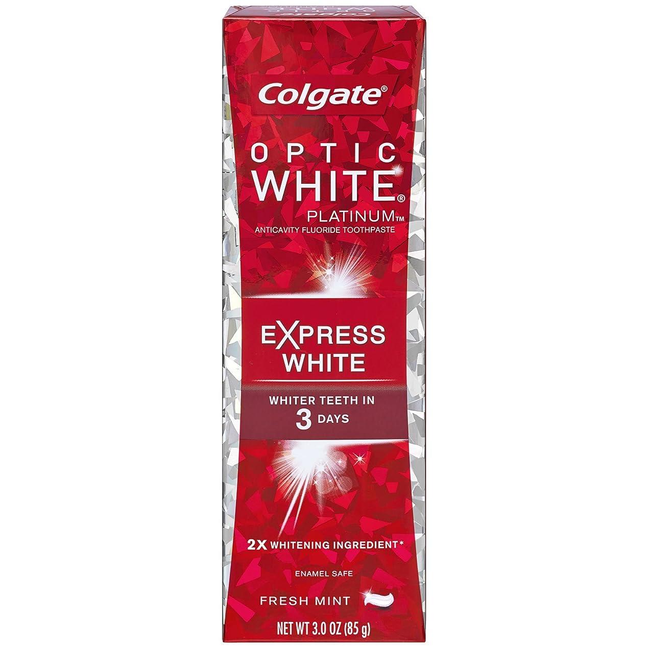 欠点テレマコス粘性のコルゲート 歯みがき粉 オプティック ホワイト 3Days エクスプレス ホワイト