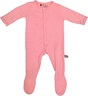 Kyte BABY Footies - Baby Footed Pajamas Made of Soft Organic Bamboo Rayon Material - 0-24 Months - Solid Colors