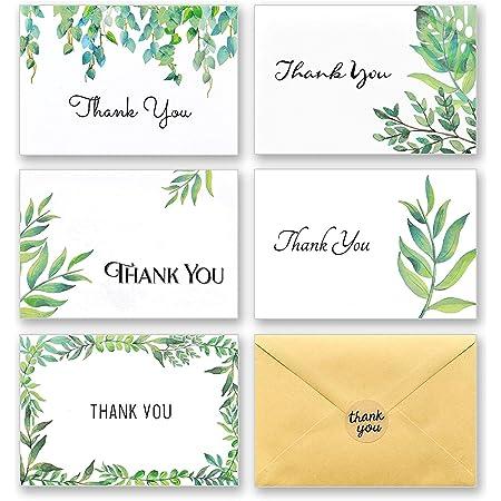 Bridal Shower Botanical Cards Wedding Thank You Cards Thank You Card Set TY-10