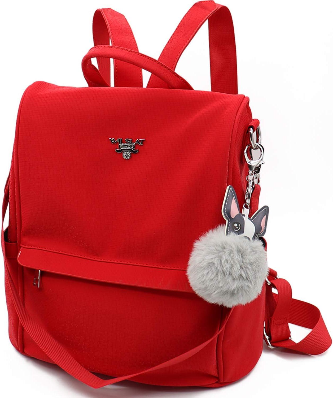 WILSLAT Anti-Theft Backpack Purse for Leather Milwaukee Mall Matte Sh Brand Cheap Sale Venue PU Women