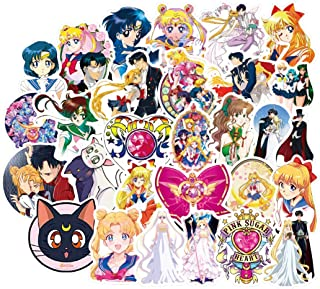 50Pcs Cartoon Anime Sailor Moon Stickers for Water Bottle Cup Laptop Guitar Car Motorcycle Bike Skateboard Luggage Box Vin...