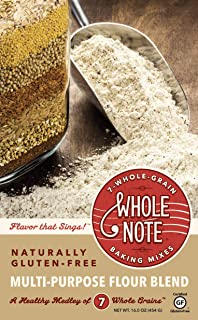 Whole Note Multi-Purpose Flour Blend, 7-Whole-Grain and Naturally Gluten-Free (Single Package)