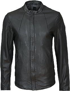 : blouson en cuir Homme : Vêtements