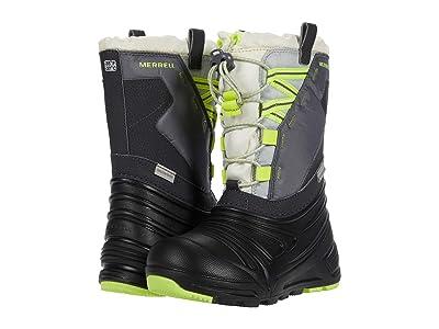 Merrell Kids Snow Quest Lite 2.0 Waterproof (Little Kid/Big Kid) (Grey/Citron) Boys Shoes