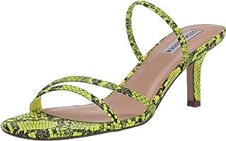 Steve Madden Women's LOFT Heeled Sandal, Green Snake, 8 M US