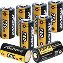 CR123A Rechargeable Batteries Li-ion 3.7V 750mAh Battery for Arlo Security Wireless Cameras(VMS3330/3430/3530/VMC3030/VMK3200) Flashlight&Security System.[8PCS Only]