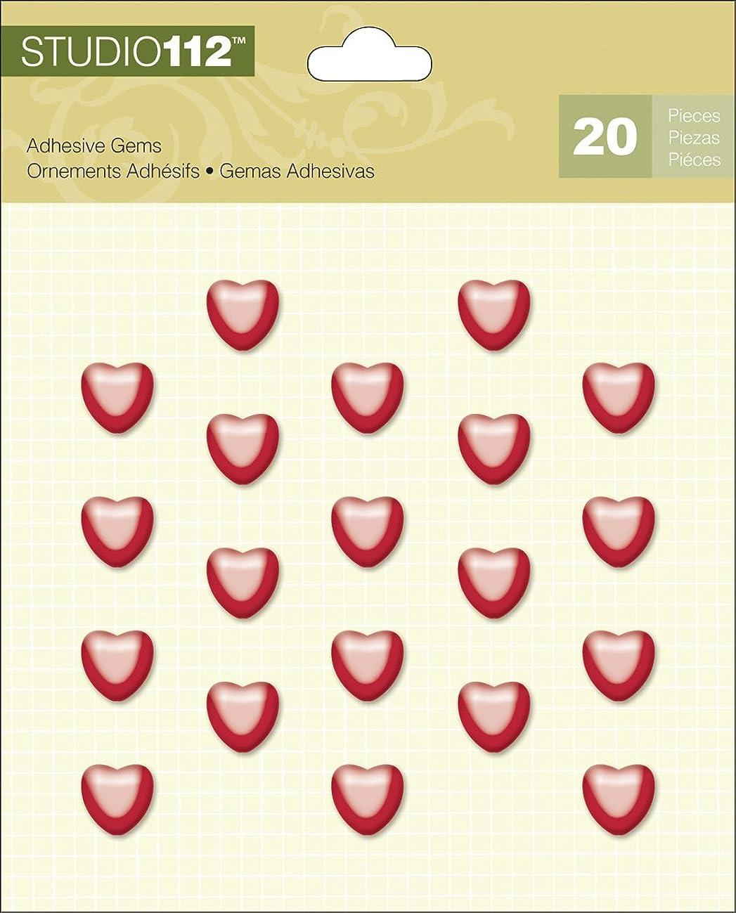 K&Company Studio 112 Heart Adhesive Gems