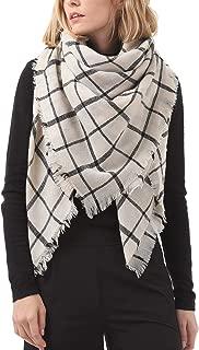 Zando Soft Warm Tartan Plaid Scarf Shawl Cape Blanket Scarves Fashion Wrap