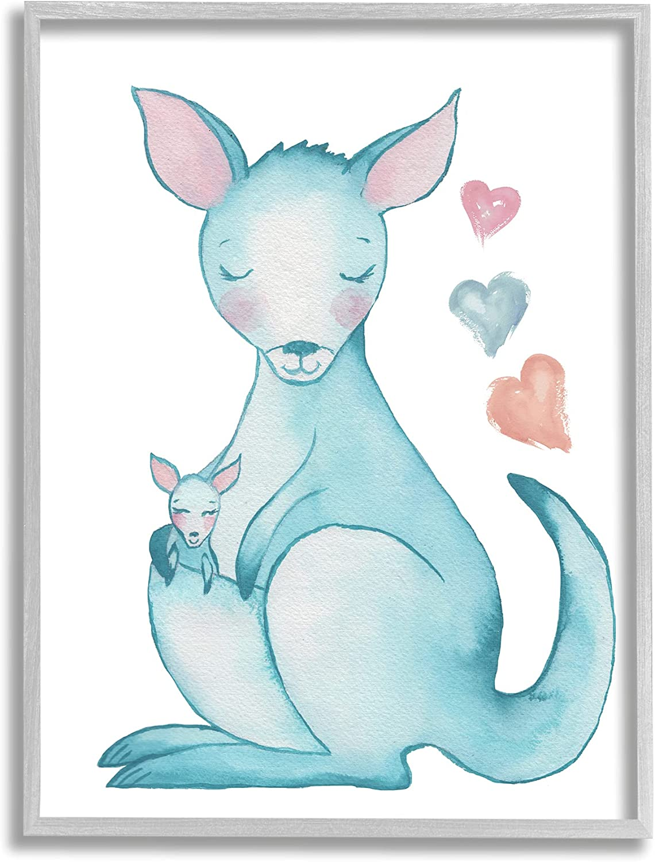 Stupell Industries Happy Family Kangaroo Classic Floating Sha Branded goods Baby Heart