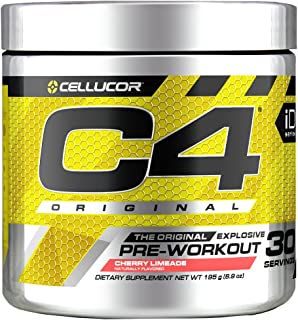 Cellucor C4 Original Pre Workout Powder Cherry Limeade | Sugar Free Preworkout Energy Supplement for Men & Women | 150mg C...