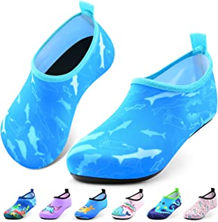 Sunnywoo Water Shoes for Kids Girls Boys,Toddler Kids Swim Water Shoes Quick Dry Non-Slip Water Skin Barefoot Sports Shoes Aqua Socks for Beach Outdoor Sports