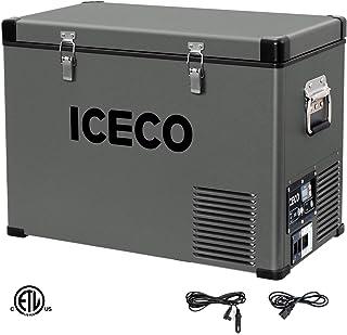 ICECO VL45 Portable Refrigerator with SECOP Compressor, 45Liters Platinum Compact Refrigerator, DC 12/24V, AC 110-240V, 0℉...