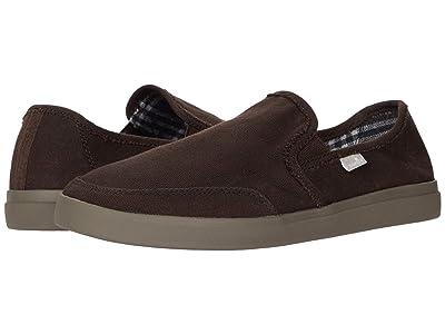 Sanuk Vagabond Slip-On Sneaker LX (Dark Brown) Men