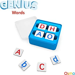 Osmo - Genius Words Game - Ages 6-10 - Interactive Letter Recognition, Phonics, Sight Words & Spelling - For iPad and Fire Tablet (Osmo Base Required)
