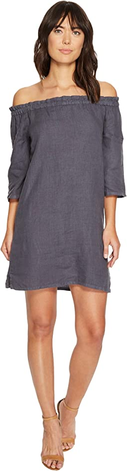 Allen Allen - Ruffle Edge Linen Dress