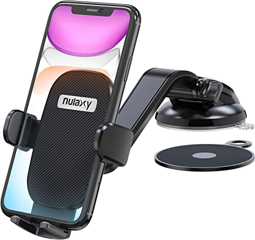 """high quality Nulaxy Phone Holder high quality for Car, No Obstruction View Dashboard Windshield Car Phone Mount Strong discount Suction with Extra Gel Pad for iPhone 11 Pro Max/11/XS Max, Galaxy S10, Google Pixel 3 XL Other 4.7''- 6.5"""" online"""