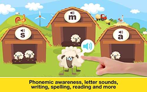 『Phonics: Fun on Farm - Reading, Spelling and Tracing Educational Program • Kids Learning Games Teaching Letter Sounds, Sight Words, ABC Flash Cards Quiz & Alphabet for Preschool, Toddler, Kindergarten and 1st Grade Explorers by Abby Monkey®』の6枚目の画像