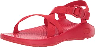 red hiking sandals