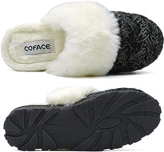 Pantofole Donna Invernali Calde Scarpe da Casa in Peluche Confortevole Memory Foam Antiscivolo per Interno Esterno