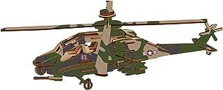 BestPysanky 82 Pieces Apache Helicopter Model Kit - Wooden Laser-Cut 3D Puzzle