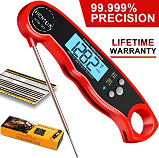 KOFOHO Meat Food Thermometer,Digital Instant Read Waterproof Kitchen Cooking Beef Candy Quick Read Thermometer with Foldable Probe for Oil Deep Fry BBQ Grill Smokers
