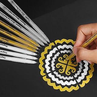 Tingeart Premium 3 Colors Gel Pen Set - White, Gold and Silver Gel Ink Pens, Archival Ink FineTip Sketching Pens For Illus...