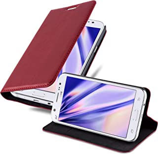 Cadorabo Book Case Works with Samsung Galaxy J5 2015 in Apple RED – with Magnetic Closure, Stand Function and Card Slot – Wallet Etui Cover Pouch PU Leather Flip