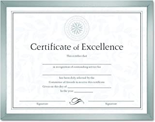 DAX N17002N Value U-Channel Document Frame with Certificates, 8-1/2 x 11 Inches, Silver