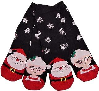 Ladies Christmas Socks TWO PAIRS One Size Ideal Stocking Filler Secret Santa