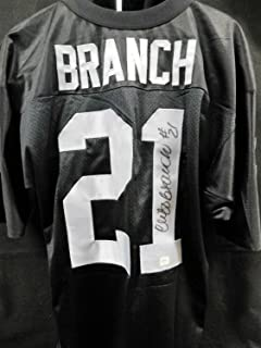 Cliff Branch Autographed Signed Memorabilia Oakland Raiders Custom Jersey PSA/DNA Authenticated