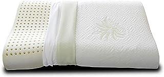 Evergreenweb – Almohada viscoelástica cervical de 40 x 70 x 9 cm de altura con funda de aloe vera y 100% algodón, doble onda, ortopédica y desenfundable