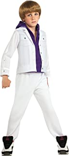 Justin Bieber Concert White Purple Hoodie Child Halloween Costume (Size: Small 4-6)
