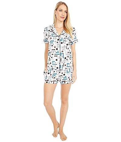 Kate Spade New York Modal Spandex Jersey Short Pajama Set (Makeup Box) Women