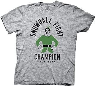 Elf Snowball Fight Champion Adult T-Shirt