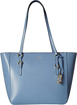 be5f16d65132 LAUREN Ralph Lauren. Crochet Straw Tote Large.  158.00. Blue Mist