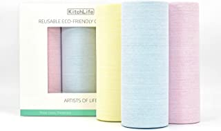 KitchLife   Reusable Paper Towels, REAL Washable Kitchen Roll (HEAVY DUTY 150 Sheets) , 1 Year Supply, Ultra Durable, Supe...