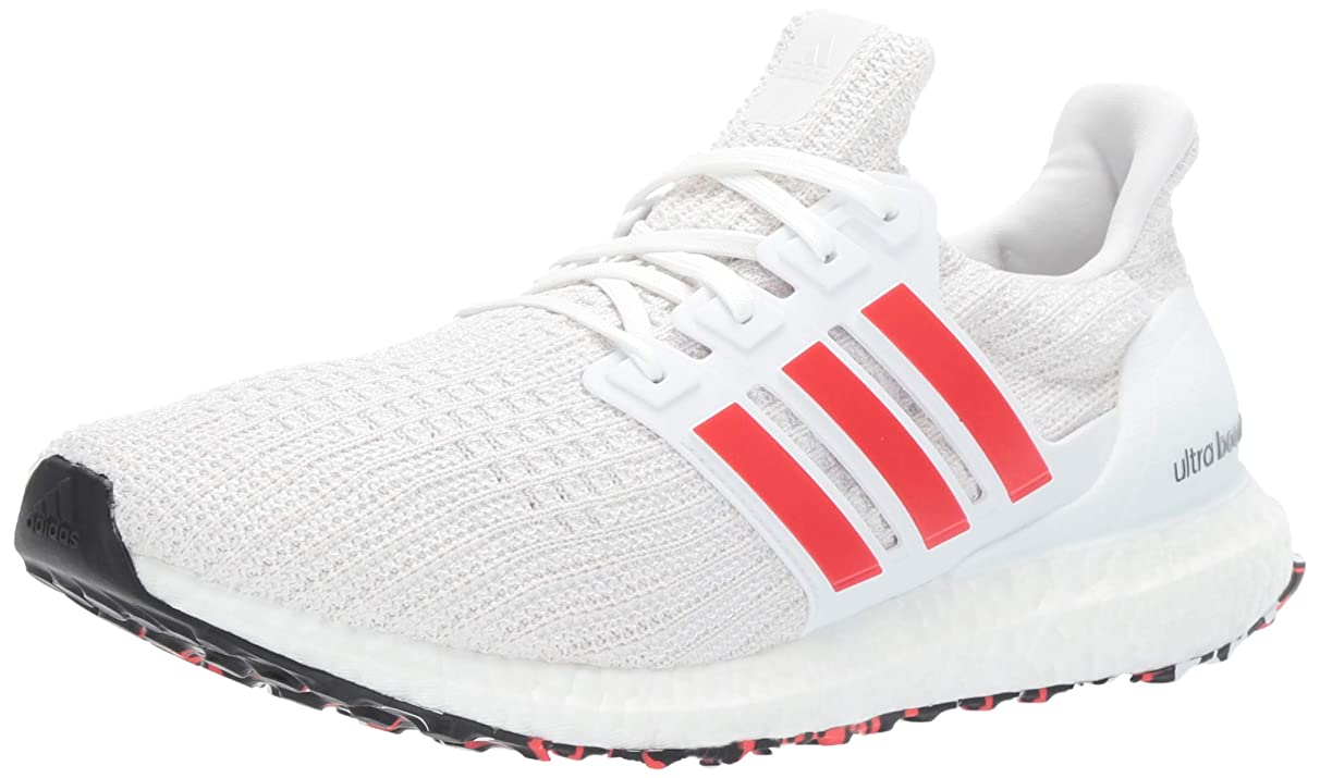 adidas Men's Ultraboost, Active red/Chalk White, 10.5 M US
