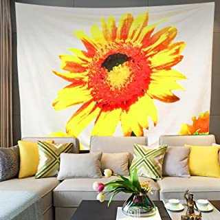 """Keriqi 79""""x59"""" Sunflower Tapestry Wall Hanging Mandala Sunflower Backdrop for Room Dorm Home Decor"""