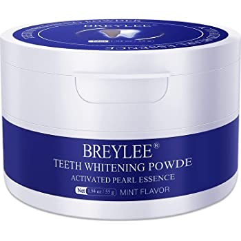 Teeth Whitening Powder,Pearl Essence Teeth Brightening Powder,BREYLEE Natural Teeth Whitener Removing Stain Caused by Coffee Wine Smoking Without Causing Damages,Keeping Oral Fresh(1.94 oz)