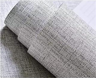 Tela de imitación Peel Stick Papel tapiz Tejido Autoadhesivo Papel de contacto Lino Firea Place Cocina Protector contra salpicaduras Pegatinas de pared Pegatina de puerta Forros de encimera (gris)