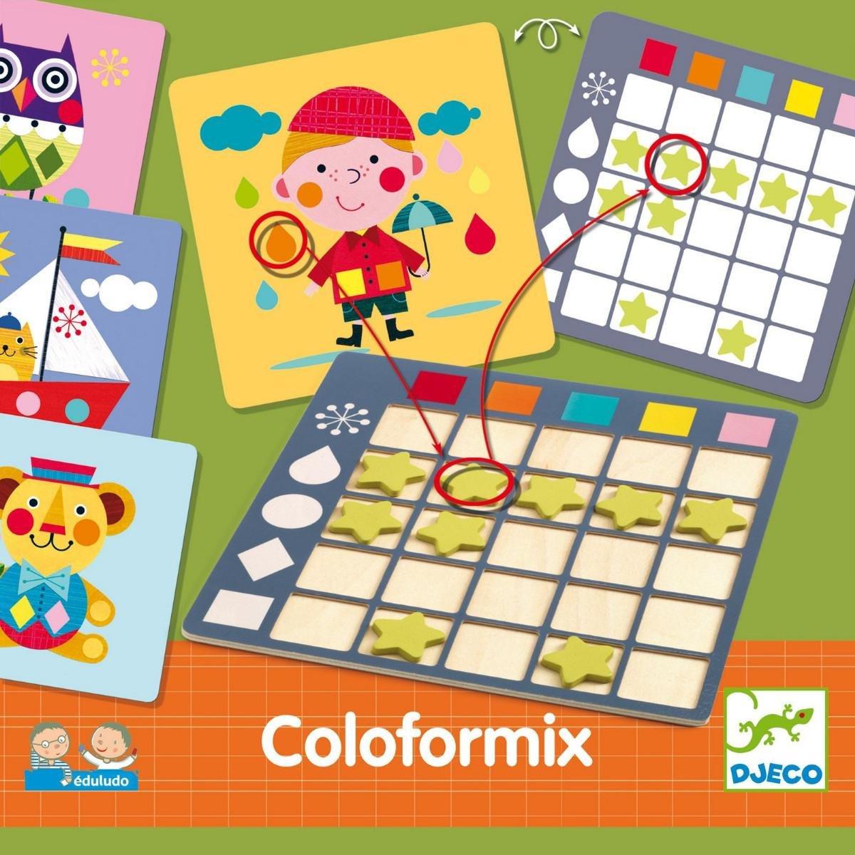 Djeco- Juegos de Acción Y Reflejos Educativos Eduludo Coloformix, Multicolor (15): Amazon.es: Juguetes y juegos