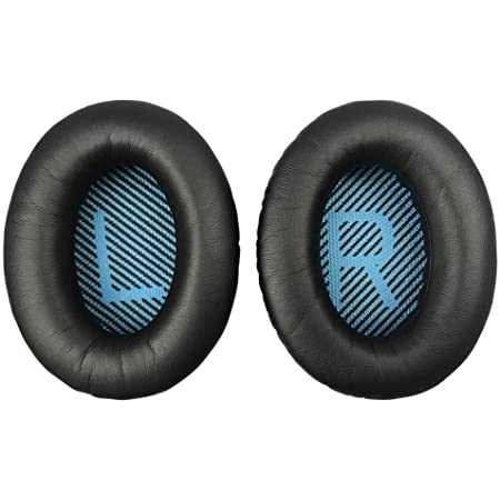 Replacement Ear-Pads for Bose QuietComfort QC 2 15 25 35 Ear Cushions for QC2 QC15 QC25 QC35 SoundLink/SoundTrue Around-Ear II AE2 Headphones (Black)