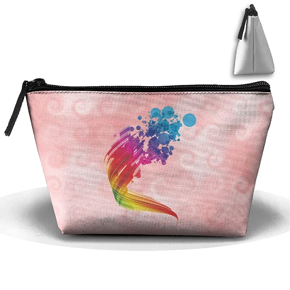 Trapezoid Portable Travel Toiletry Pouch Multicolour Cosmetic Bags Multifunction Clutch Bag